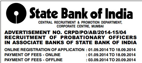 online application of sbi associate bank 2014