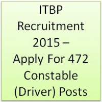 ITBP Recruitment 2015 - Apply for 472 Constable (Driver) Posts